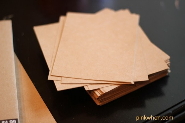 Cut Cardstock to rectangles