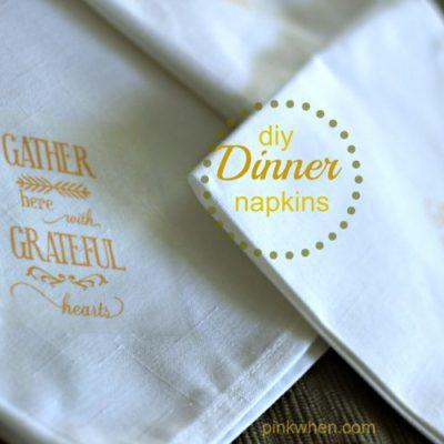 How To Make Fall Dinner Linen Napkins