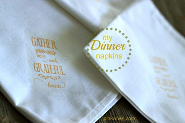 How to Make Fall Dinner Linen Napkins