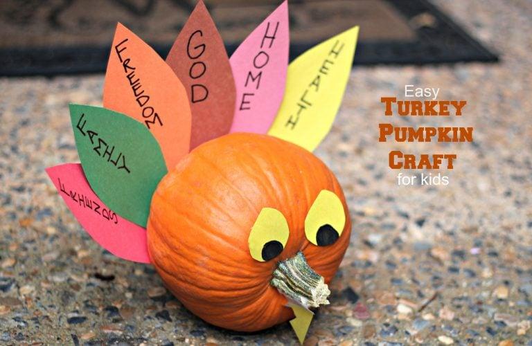 Easy Turkey Pumpkin Craft For Kids My Crafty Spot When Life Gets Creative