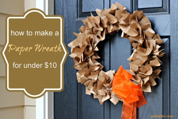 Fall Decorating on a Budget with a Paper Wreath for under $10