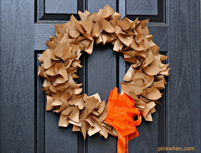How To Make A Paper Wreath Pinkwhen