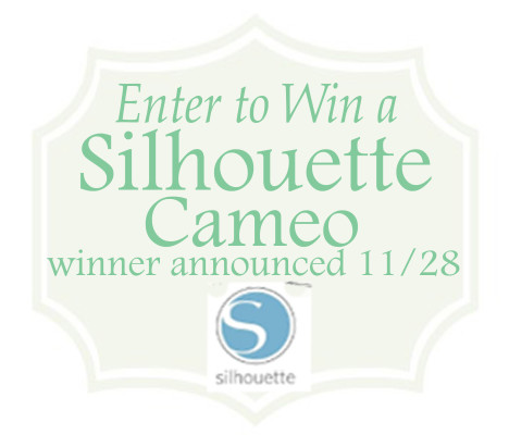 Enter to Win a Silhouette Cameo by visiting PinkWhen.com between now and 11/28