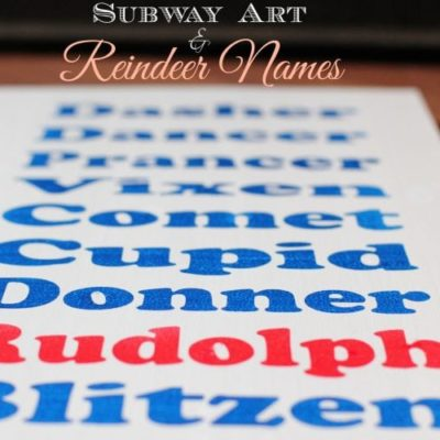 Subway Art and Reindeer Names