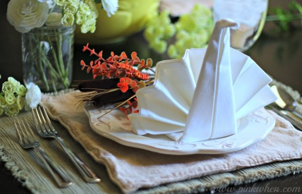 Thanksgiving Table Setting Ideas with JoAnn Fabric and Craft Stores #TurkeyTableScapes