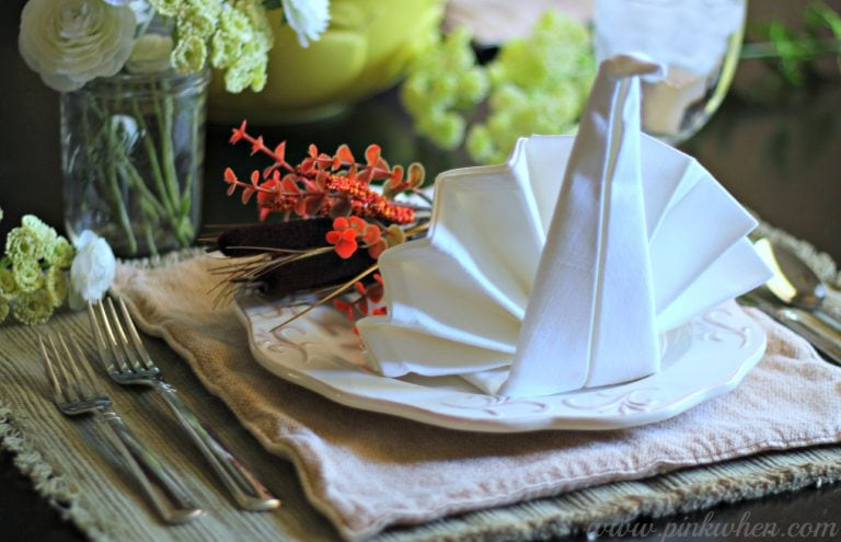 Thanksgiving Table Setting Ideas thanksgiving table setting - pinkwhen