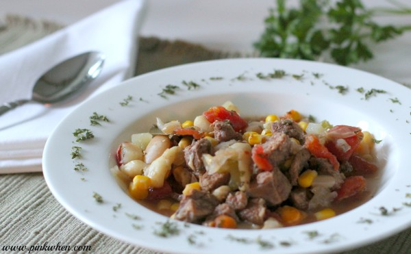 A delicious vegetable Beef Stew recipe that makes so much you will have plenty for freezing to serve later.