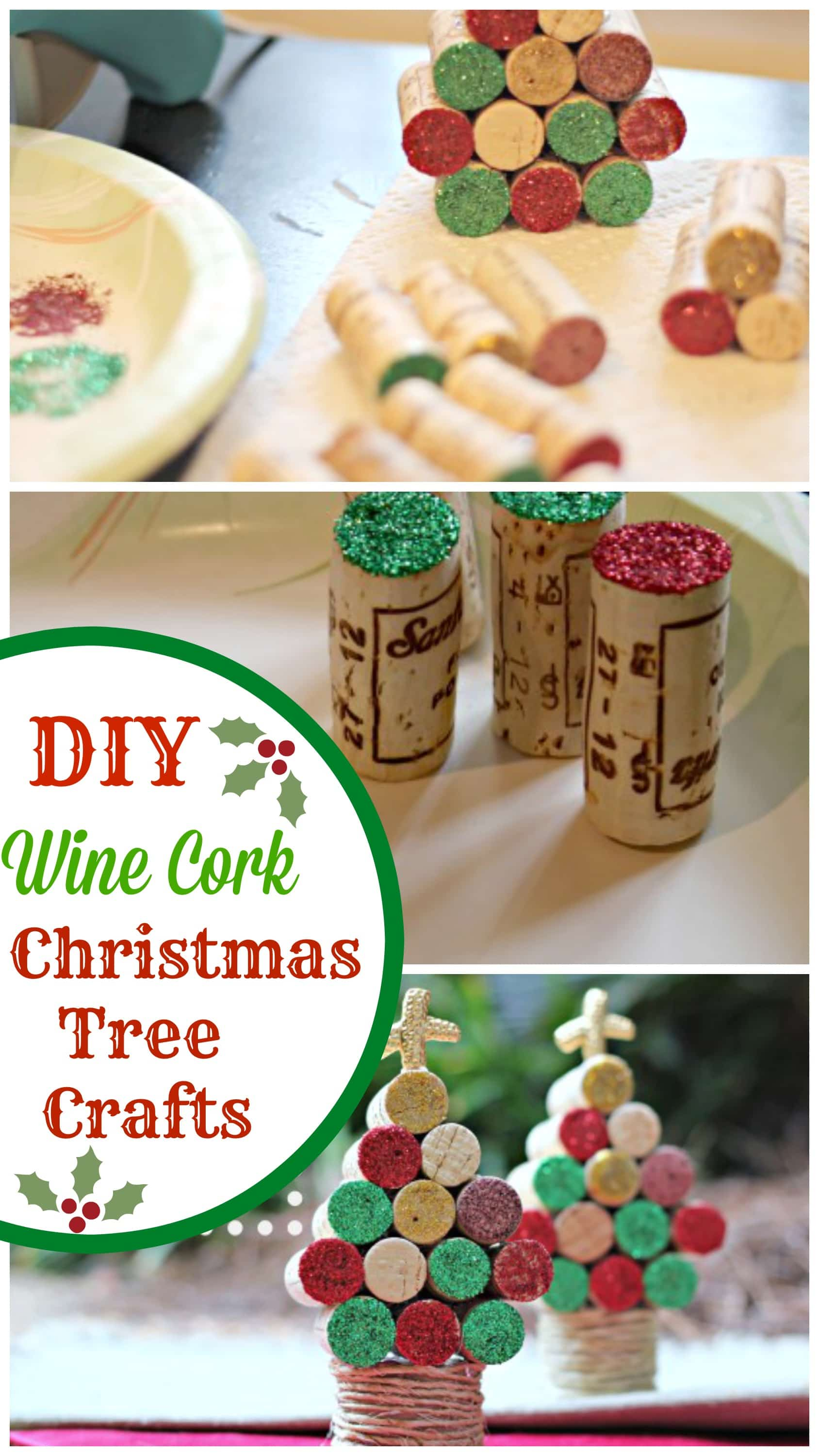 Wine cork christmas tree craft pinkwhen for Decorating with wine corks