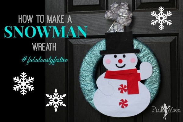 How to Make a Wreath with Snowman and JoAnn Fabric and Crafts #fabulouslyfestive