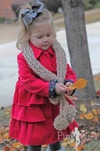 Crochet Scarf & Pom Poms