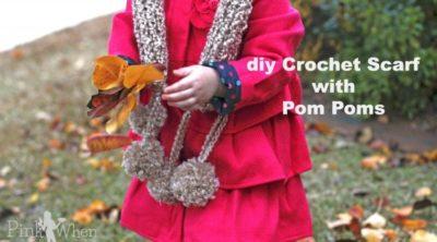 DIY Crochet Scarf & Pom Poms