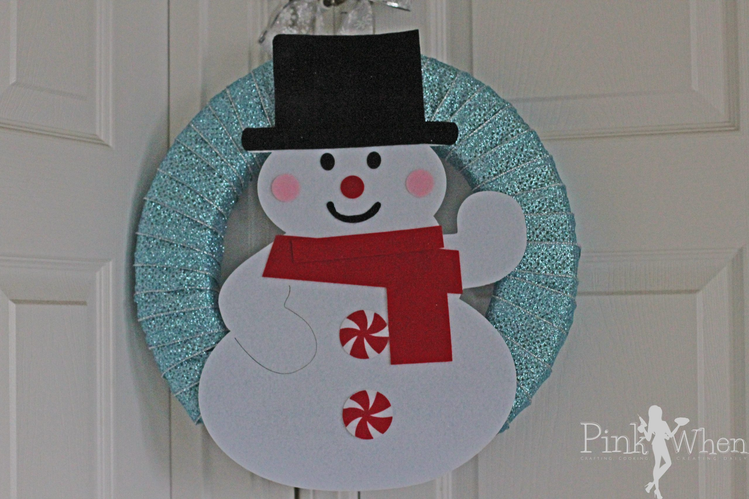 How to Make Snowman Wreath