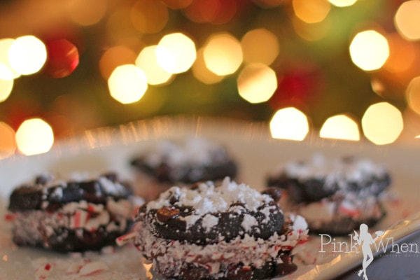 Peppermint and Chocolate Christmas Cookie