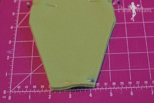 Pin Right sides together