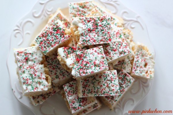 Rice Krispie Treats Recipe with Chocolate and Sprinkles, YUM!
