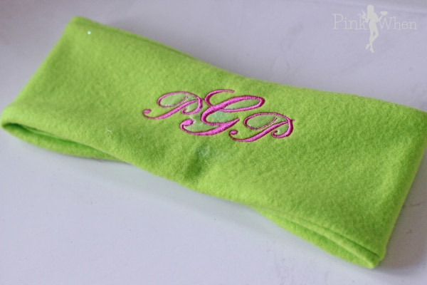 Tutorial for Monogrammed Ear Warmer headband