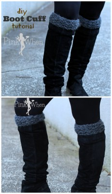 Boot Cuff tutorial via PinkWhen.com