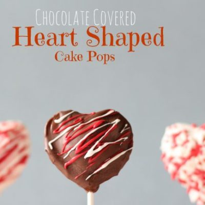 Chocolate Covered Heart Shaped Cake Pops