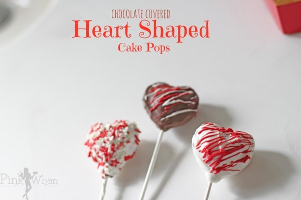 Candy Coated Heart Shaped Valentine Cake Pops