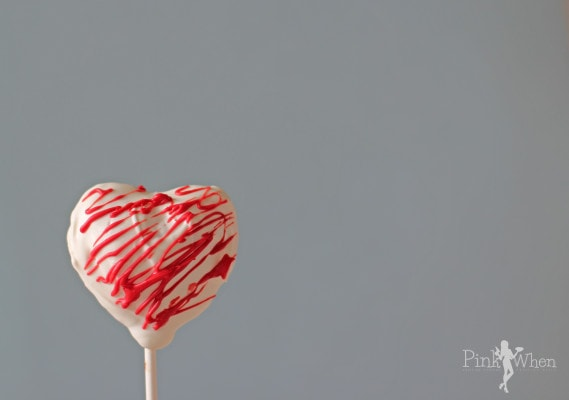 A decorated Candy Coated Heart Shaped Valentine's Day Cake Pop