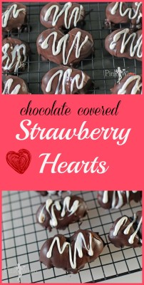 Chocolate Covered Strawberry Hearts Candy Tutorial
