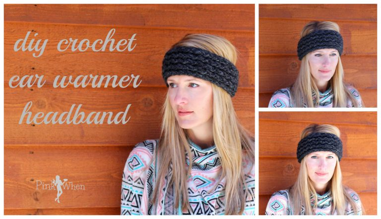 Diy crochet ear warmer headband tutorial pinkwhen diy crochet ear warmer headband i have been making these headbands left and right i was so excited to be spending a week in colorado and with the temps bankloansurffo Image collections