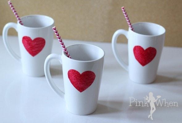 DIY Glitter Heart Mug Gift