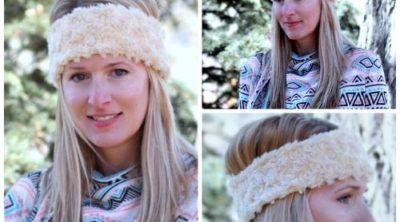 Quick and simple DIY Minky Ear Warmer Headband pattern and tutorial