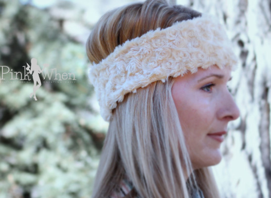 DIY Minky Ear Warmer Headband