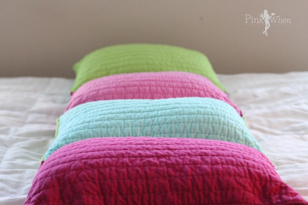 DIY Pillow Bed Tutorial via PinkWhen.com
