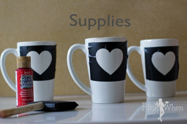 DIY Valentine Mug Supplies