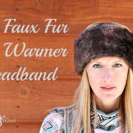 DIY Fur Covered EarWarmer Headband Tutorial