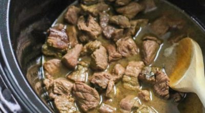 Beef Tips in the Crock Pot.