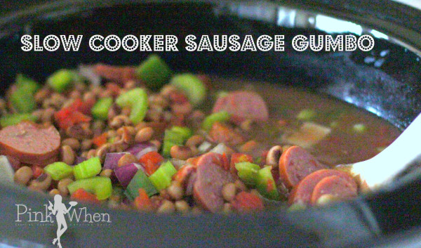 Slow Cooker Sausage Gumbo Recipe  PinkWhen.com