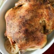 Easy Slow Cooker Whole Chicken With Rosemary