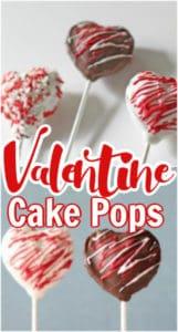 Valentine Cake Pops Pinnable image