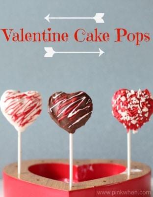 Valentine Heart Shaped Cake Pops
