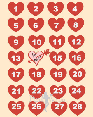 Valentine Be Mine Free Printable Countdown Calendar