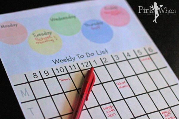 Weekly Planner Free Printable PinkWhen