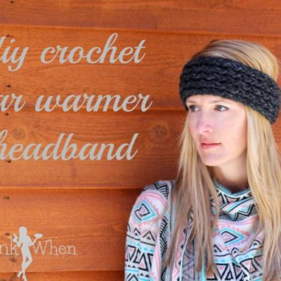 DIY Crochet Ear Warmer Headband Tutorial