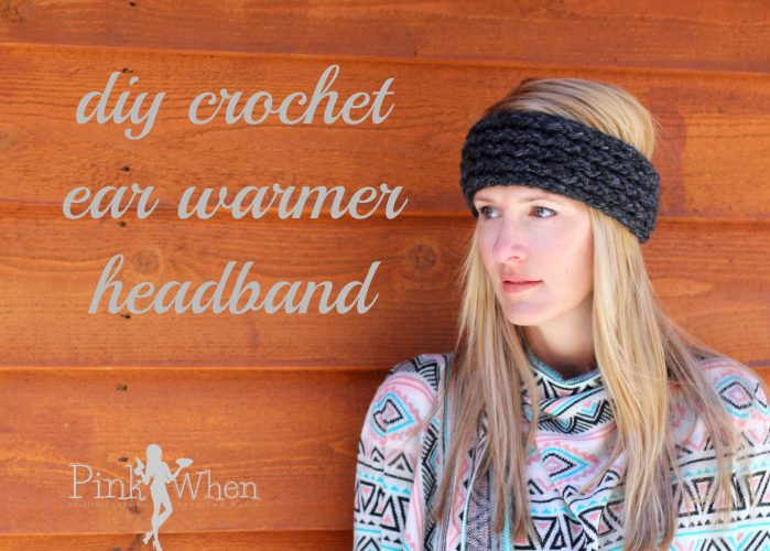 Diy crochet ear warmer headband tutorial pinkwhen diy crochet earwarmer headband there are also a ton of fun little variations you can do with this project i have seen several patterns for doing these bankloansurffo Image collections