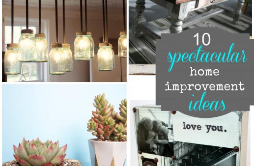 10 Spectacular Home Improvement Ideas from some amazing DIY Bloggers