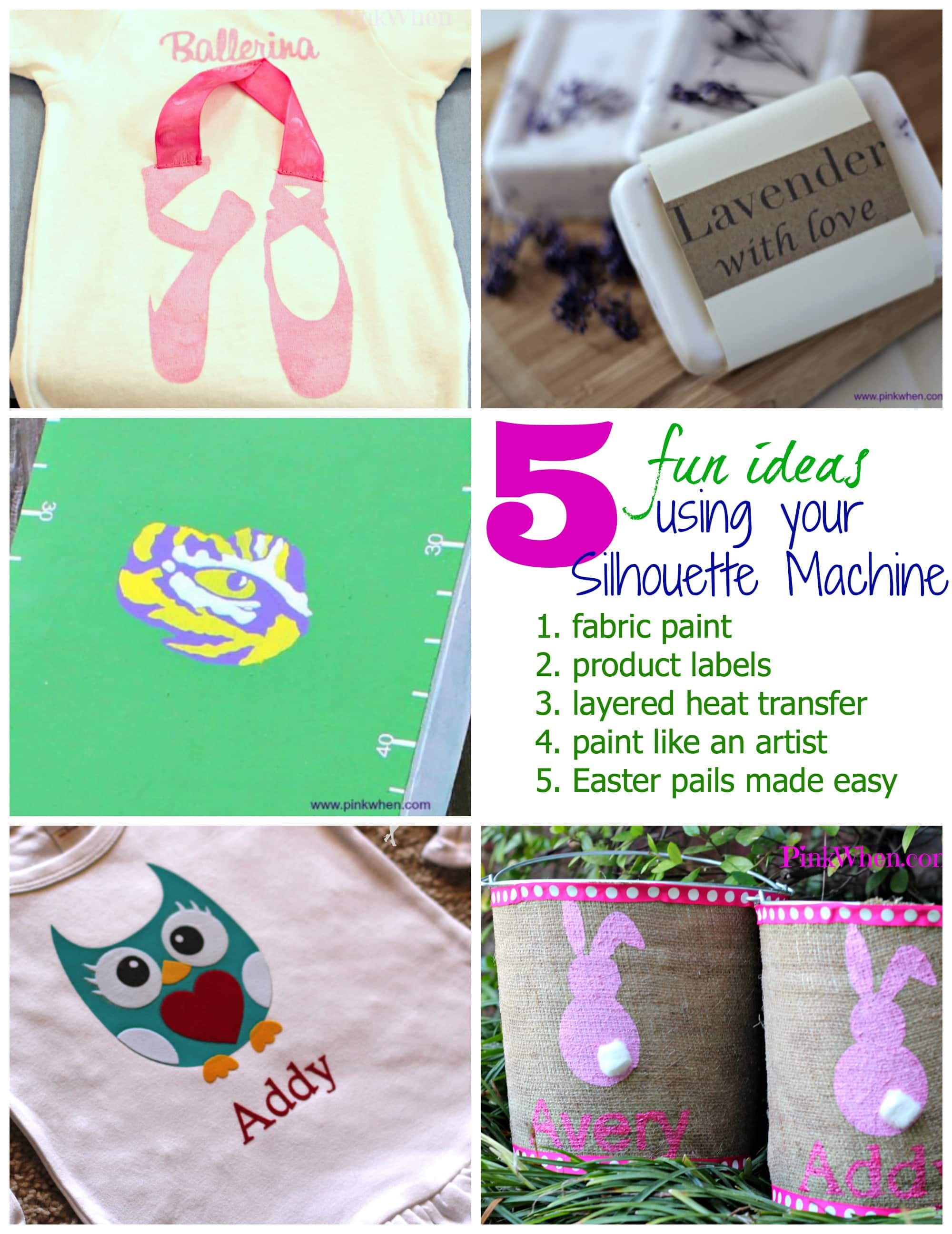 5 Fun Projects Using a Silhouette Machine - PinkWhen