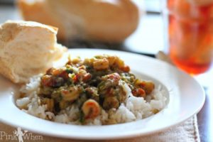 Cajun Southern Louisiana Crawfish Etouffee Recipe via PinkWhen.com