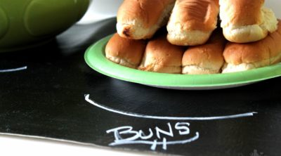 Chalkboard Table Runner - Perfect for Summer Cookouts!