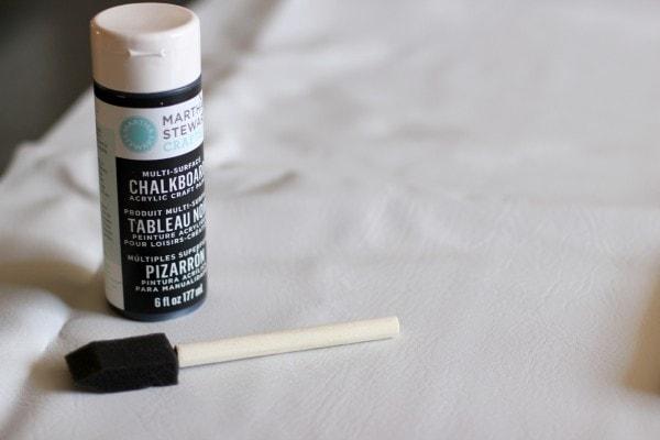 Chalkboard Table Runner Supplies