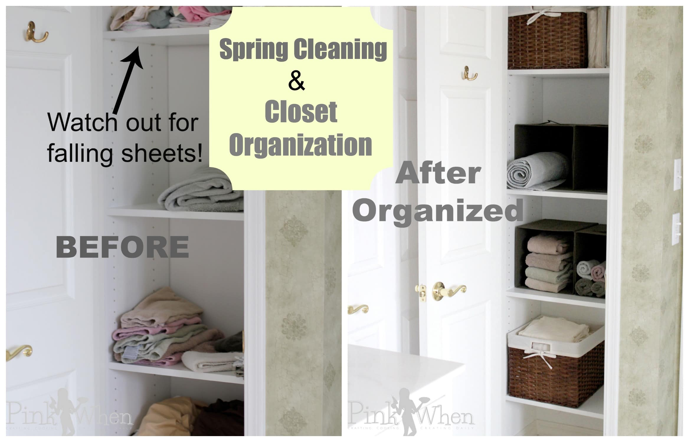 Spring Cleaning and Closet Organization - PinkWhen