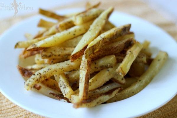 Homemade Garlic and Basil French Fries