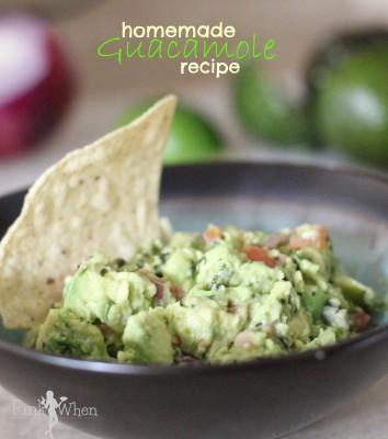 Homemade Guacamole Recipe perfect for Cinco De Mayo
