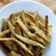 Homemade Garlic and Basil French Fries